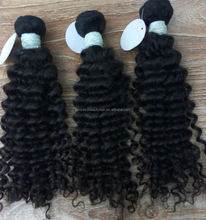 Export top quality 5a Cambodian human material one donor deep wave double drawn virgin hair