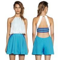 Summer short pants bodysuit halter sexy open Women Wear