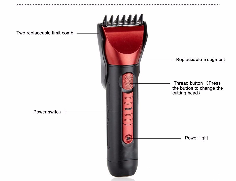 Low prices custom logo professional hair clippers trimmer kit set barber shop tools supplies wholesale barber shop