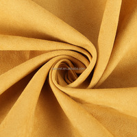 100% polyester woven suede fabric for garment good colour fastness suede fabric