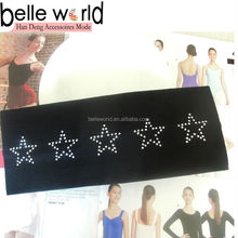 Wholesale Sport black start headband hair band hair accessory for women