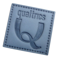 newly design fake leather patches fashion design leather badge