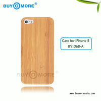 100%new arrival geniue Natural High Quality wood Bamboo cover Case For iPhone 5,wood cover case for iphone5,bamboo wooden case f