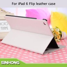 New Design Colorful Leather Flip Cover Case For iPad 6