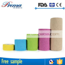 Own Factory Direct Supply Non-woven Elastic Cohesive Bandage patterned hospital cohesive bandage