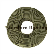 2*0.75 /3*0.75 vintage style textile fabric cord retro light cable braided decorative electrical cable/Olive
