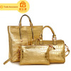 Three Sets Fashion Bright Japanned Leather Women's Bag