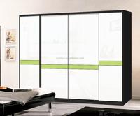 Hot Sale Trending Design Laminated Plywood Rail Sliding Door Wardrobe