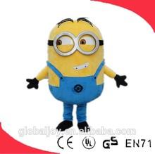 Attractive newest advertising mascot cartoon costume/despicable me minion costume