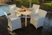 Nueva colección 2014 Mobiliario de exterior, Conjunto de sillas y mesa de rattán/ mimbre sintético