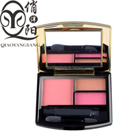 Authentic cosmetics Double lubricious eye shadow + blush Combination box set natural persistent Don't decoloring waterproof