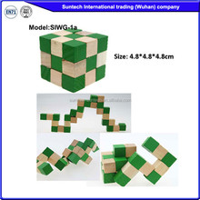 Educational wooden puzzle brain teaser funny snake 3d-mini-puzzles