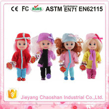 Winter Theme Best Baby Gift 3.5 Inch Real Little Girl Doll Models