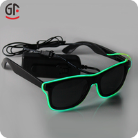 New Products Fashionable Wire Light Up EL Half Frame Sunglasses