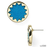 Fashion Jewelry 2015 In Metal New Trending Products Jewelry Wholesale House of 1960 Sunburst Button Stud Earrings