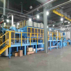 Continuous carbonitriding mesh belt furnace/carburizing furnace with protective atmosphere furnace