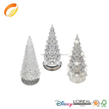 Large size 32cm tall color changing arylic ice clear crystal christmas tree