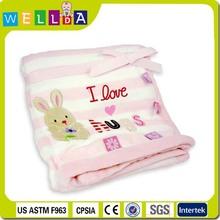 Hot sale fleece baby blanket handmade