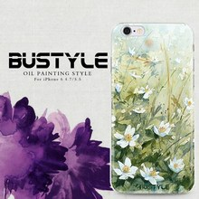 Bustyle mobile soft tpu or PC hard case for iPhone6 cover for samsung galaxys5 s6 note4 oil painting style customized available