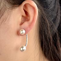 Bijoux Fashion 2015 New Hot Selling Big Size Double Pearl Earrings For Women fashion jewelry earring