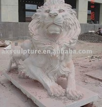 brass lion carving(factory)