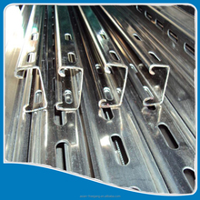 best selling amazing quality slotted pre galvanized c purlin steel/channel