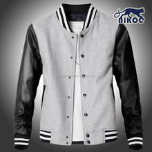 custom plain college basketball jacket with leather sleeve/leather fringe jacket