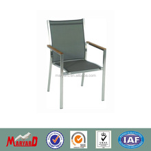 304 stainless steel garden chair with batyline sling