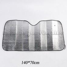 Silver Tone Interior Car Front Rear Window Sun Shade Sunshield for Car