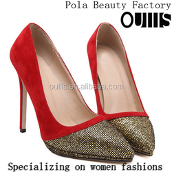 2016 new design dress shoes women high heels high quality dress shoes PJ4082