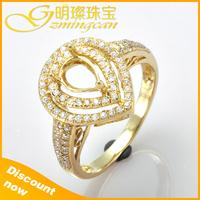 2015 Semi Mount Gold Fashion For Wedding Diamond Ring