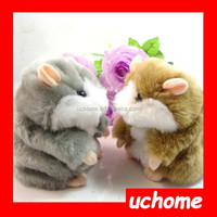 UCHOME 14cm Funny Tone Talking hamster Talking Animal Toys Speaking Hamster Plush Hamster