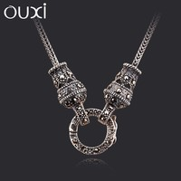 2015 new design good imitation jewellery necklace antique silver