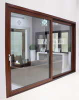 Aluminum Wood clad lift-sliding glass door for home from broad factory