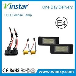 E4 Canbus led license plate light cars accessories led license plate light for Audi A4 A5 A6 A7 Q5