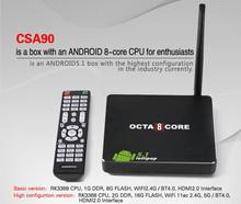 CSA90 Android 5.1 LOLLIPOP TV Box RK3368 Cortx-A53 Octa Core 1G+8GB 4K Smart Media Player Support BT4.0,H.265,4Kx2K