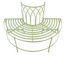 Cuarto de hierro forjado decorativo ronda árbol bench seat