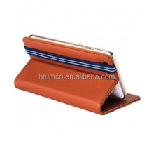 Hot sell phone case,Cow Leather shell,Book Style phone case for Apple iPhone 6