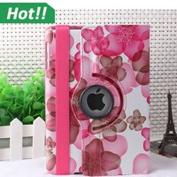 Classic Flower Tablet Case PU Leather Stand Flip Book 360 Rotating Smart Cover For iPad mini 1 2 3