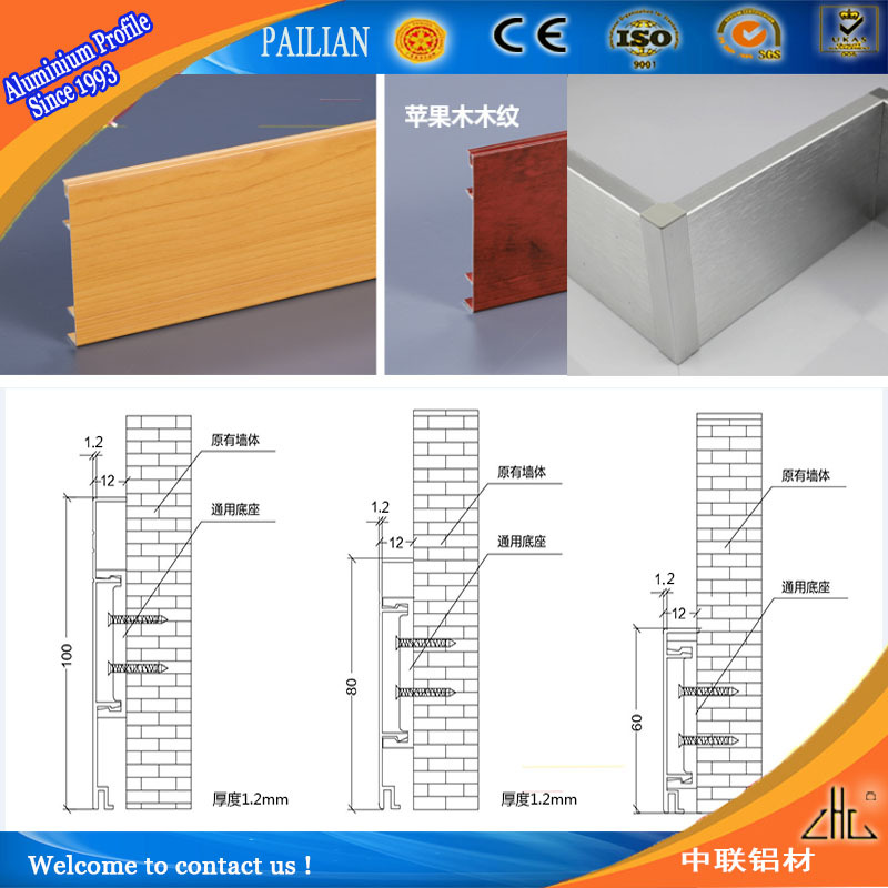 Aluminium Plancher Profil Escalier Flairant Pour Carreaux De Bord De Marche Protection Pi Ces D