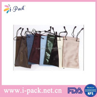 Hot sell drawstring smart microfiber pouch for mobile phone