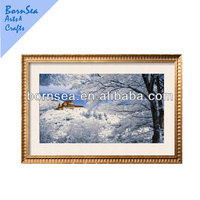 light and delicate natural scenery digital picture wooden photo frame art