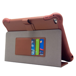 360 Rotating PC Leather Stand Smart case for ipad mini silicone tablet case