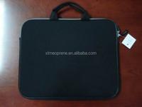 black neoprene handle laptop bag/sleeve with handle