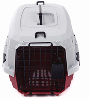 Safe lightweight transport plastic pet cage