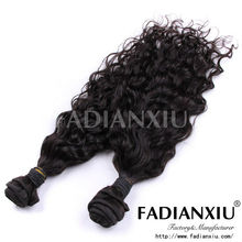 Wholesale price machine made hair not hand tied weft hair extensions