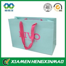 High quanlity wholesale shopping bag; packaging paper bag