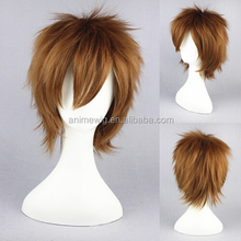High Quality 35cm Short Straight Naruto-Sabaku no Gaara Brown Synthetic Anime Wig Cosplay Hair Wig Party Wig