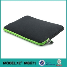 Fashion design neoprene embossed sleeve for Mini Pad with color zipper