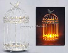 Vintage White Metal Moroccan Candle Lantern Wedding Decoration